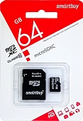 КАРТА ПАМЯТИ MICRO-SD 64Gb Smart Buy Class 10