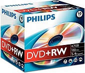 DVD+RW PHILIPS 4x 4.7Gb  SLIM